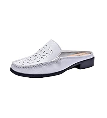 Kuja-Parish Women's White Leather Formal Shoes - 3.5 UK
