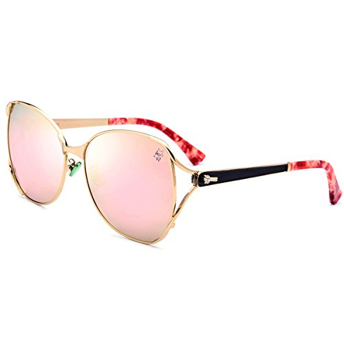 hepidem Frauen Marke Designer Sexy Female Damen Polarisierte Sun Glasses 9226, rose