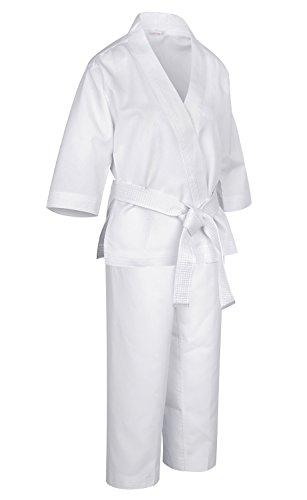 Kimono de Karaté pour Enfant Débutants Etudiants avec Ceinture Blanche Formation Match