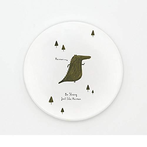 ZCHPDD Färben Sie Kleines Tier Kreatives Nettes Isolierkeramikrundes Schalenbehälter-Speisetischuntersetzermuster 03 10.2 * 0.6Cm * 4Pcs