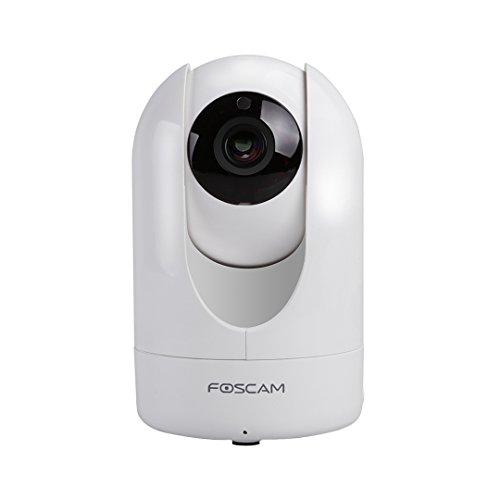 """Foscam R2 drehbare und schwenkbare Full HD IP WLAN Kamera / Überwachungskamera mit 2 MP (Auflösung von 1920x1080 Pixel), P2P, IR Nachtsicht, MicroSD-Kartenslot, Bewegungserkennung, """"2-Way-Audio""""-Sytem - weiß"""
