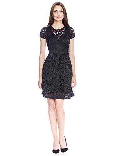 Vive Maria Damen Bohemian Lace Dress Kleid, Schwarz (Black), Large -