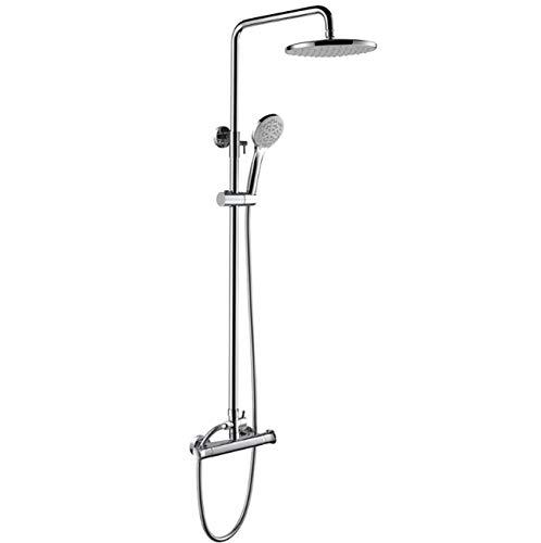 Thermostatisches Mixer-Duschset Für Badezimmerdusche mit 9-Inch Top-Duschkopf + 4 Mode Handshower Für Badedusche-System - Wand Handshower Set