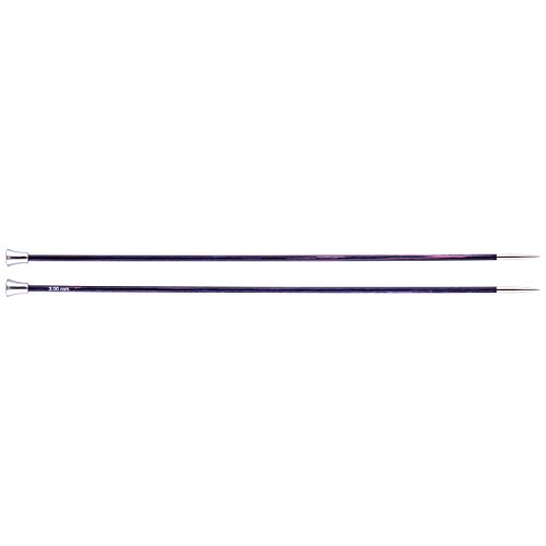 KnitPro Stricknadeln Royale Single Ended, Birchwood/Messing, Mehrfarbig, 35cm x 3,00mm (Single Crochet-muster)