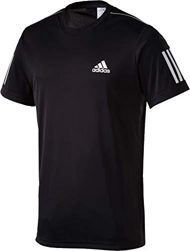 adidas Herren Club 3-Streifen T-Shirt, Black/White, M