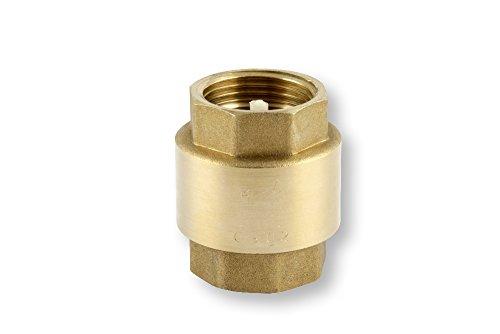 Ventil Messing Rückschlagventil mit Innengewinde 1 1/4 Zoll, gold