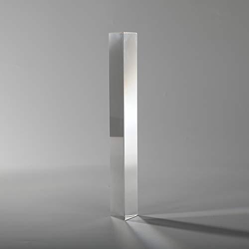 Followsun Optisches Glas Dreibettzimmer Dreiecksprisma Physik Teaching Lichtspektrum für Wissenschaft Klassenzimmer Unterricht und Regenbogen Fotografie (15cm) - Regenbogen-kamera-objektiv