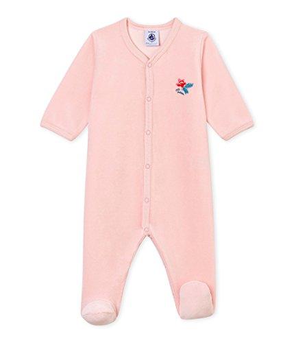 Petit Bateau Trema 1, Pelele para Dormir para Bebés, Rosa (Joli 02), 80 (Tamaño del Fabricante:18M)