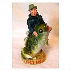 Spardose Angler mit Fisch -