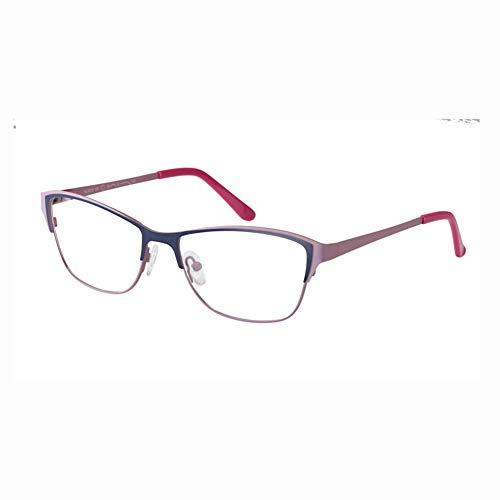 TIFEIYA Photochrome Lesebrille/Farbwechselgläser, Cat Eye Sonnenbrillen für Herren/Damen/ältere Menschen Leser Brille, leicht und elegant wirkt jünger,Bluepink,+4.25