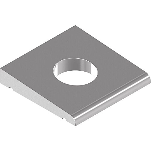 50 Stück Vierkant-Keilscheiben DIN 434 - Edelstahl A2 f.U-Träger - 11 f.M10