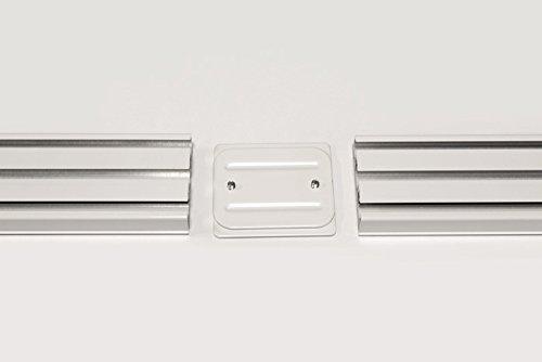VICTORIA M Binario per tende a pannello in alluminio 325 cm a 5 ...