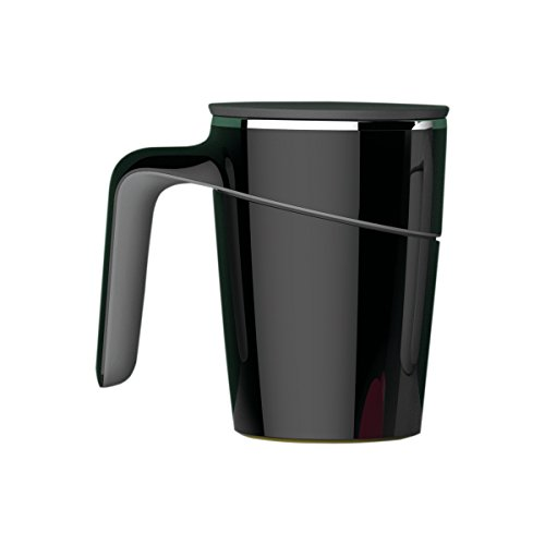 Primeway Artiart Insulated Suction Coffee Mug -The World'S Unique Mug That Won'T Fall Over, 470Ml, Black