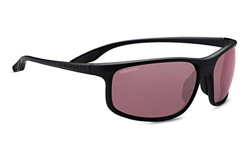 Serengeti ponza, occhiali da sole unisex – adulto, satin nero, l
