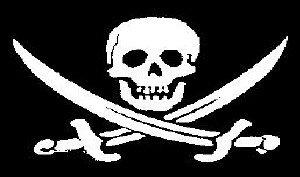 Preisvergleich Produktbild Flagge Fahne Pirat gekreuzter Säbel (Fluch der Karibik) 90x150cm