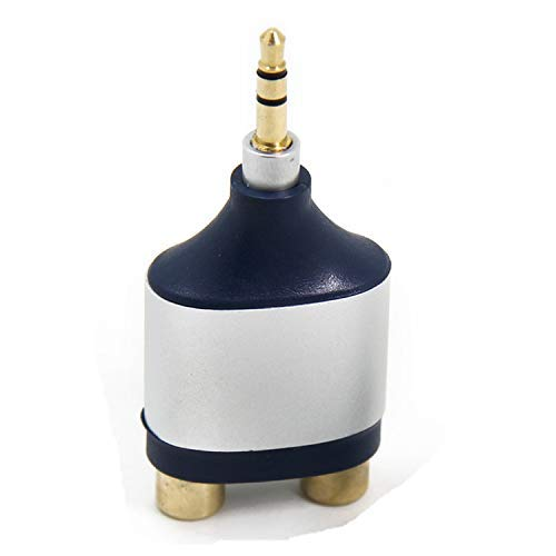 Premium Stereo Adapter, Ancable 3,5 mm TRS Stecker auf Dual RCA Buchse Stecker für DVD-/Record Player, Surround Sound Stereo, Bose Lautsprecher, Monitor, Xbox und TV 1-Pack -