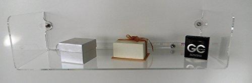 Mensola a u mis.l600xp240xh150 mm in pllex trasp.