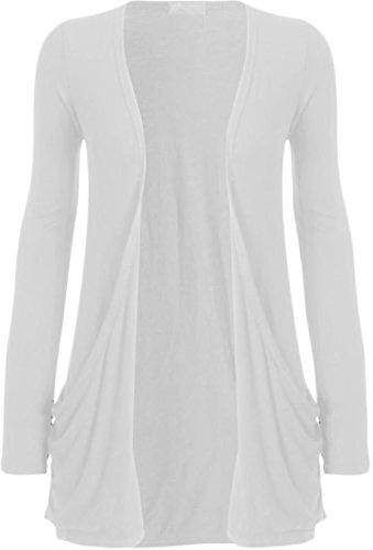 Sugerdiva Damen Tunika Kleid Weiß