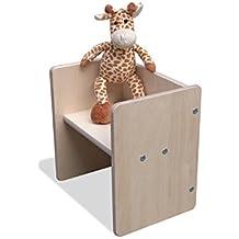 Tabouret bois transformable pour enfant 2mount - blanc ou naturel