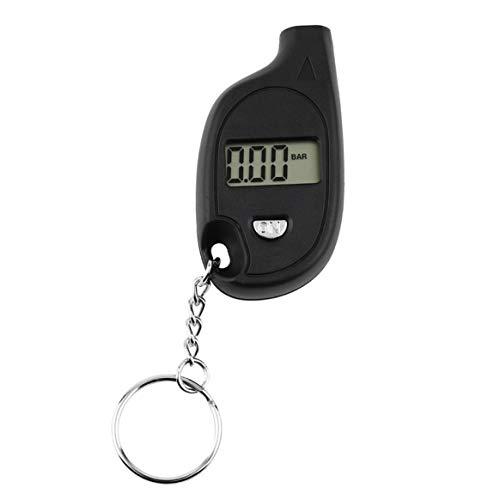 1 stück Mini Tragbare Keychain LCD Digital Auto Reifen Reifen Luftdruckprüfer Auto Motorrad Test-Tool (mit Zelle Lithium-Batterie)