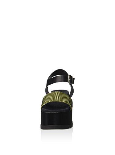 Fornarina PEFAZ9513WCJA200 Sandalo zeppa Donna Nero