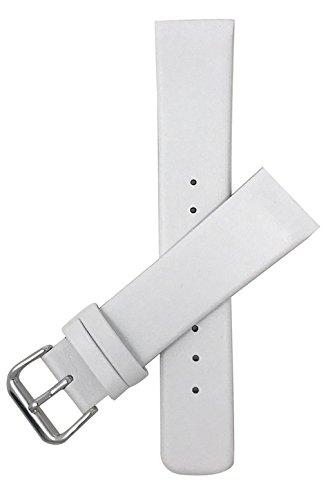 Original Skagen 18mm Leder Uhrenarmband, Weiß (Danish Design Uhrenarmband)