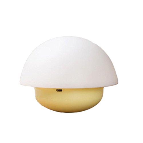 Luce notturna a forma di chiavetta luce a led colorata a forma di fungo. luce ambientale. luce personalizzata (colore : giallo)