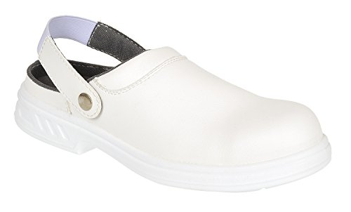 Portwest Steelite Safety Clog SB AE WRU, Chaussures de sécurité homme - Noir (Black), 41 EU Bianco