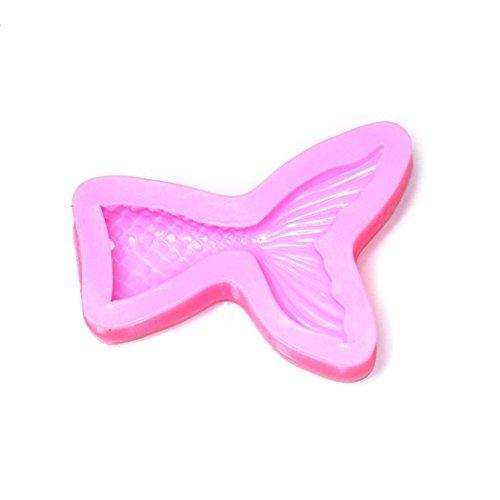 1 STÜCK Rosa Meerjungfrau Form Schokolade Cookie Silikonform Backen Küche Werkzeug (Keramik-pfanne Für Toaster)