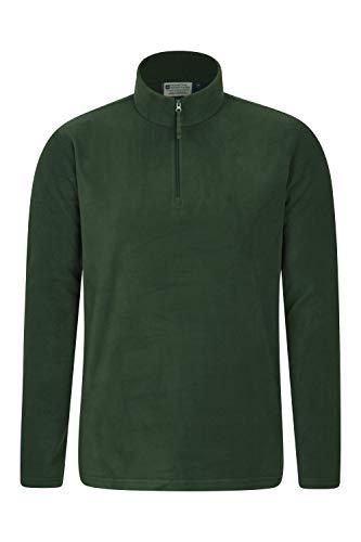 Mountain Warehouse Herren-Camber-Fleece - Ultraleicht, atmungsaktiv, wasserdichte Jacke, schnell trocknend, Antipilling-Sweatshirt, extra Belüftung - zum Wandern, Frühling Khaki Large - Fleece Thermo-pullover
