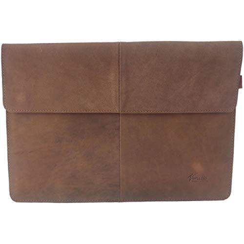 Nubuk-Leder 15,6 Zoll Laptop Tasche Sleeve Hülle Ultrabook Schutzhülle für 15