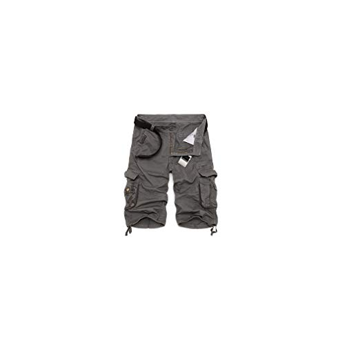 Mens Military Cargo New Army Camouflage Shorts Cotton Loose Work Casual Pants No Belt -