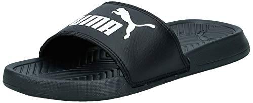 Puma popcat, scarpe da spiaggia e piscina unisex-adulto, nero (black/white), 39 eu