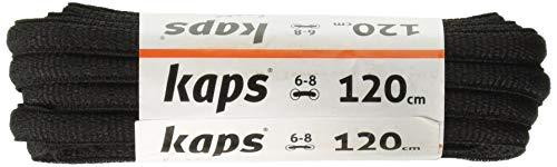 Kaps Lacci piatti, lacci in cotone 100% durevoli di alta qualità, realizzati in Europa, 1 paio, molti colori e lunghezze (120 cm - da 6 a 8 paia di occhielli/31 - rosso)