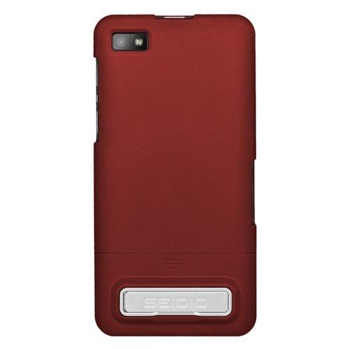 Seidio Blackberry (SeidioCSR3BBZ10K-GRSurfaceSchutzhüllemitMetall-StänderfürBlackBerryZ10garnetrot)