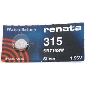 1 x Renata Batterien, erhältlich in allen Größen, Quecksilber, Silberoxid-Uhrenbatterien