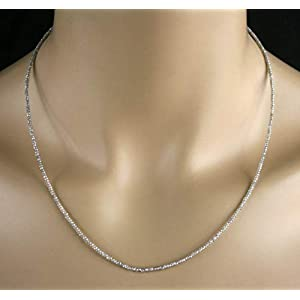 Labradorit Kette - Collier, facettiert, 10ct.