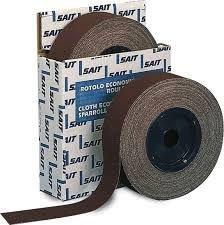 Rouleau abrasif d'atelier en toile corindon - Largeur 38 mm x longueur 25 m - Grain 100