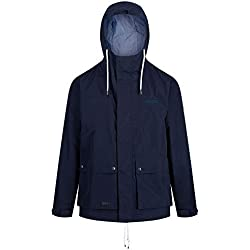 Regatta Men's Herrick Waterproof and Breathable Hooded Outdoor Jacket, Navy, Size XXXL