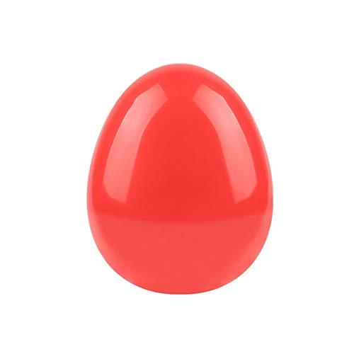 Leisial Peigne à Cheveux en Plastique Brosses de Cheveux en Forme d'Oeuf Peigne Portable Compact(Rouge Ros)
