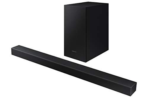 Oferta de Samsung HW-T450 - Barra de Sonido, Sonido 200W, 2.1Ch, Subwoofer Inalámbrico, Dolby Digital 2.1, Modo Juego, Bluetooth 4.2 Power On y One Remote Control, versión 2020