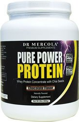 Dr. Mercola, Pure Power Protein, Whey Protein Concentrate with Chia Seeds, Chocolate Flavour, 2 lbs (909 g)