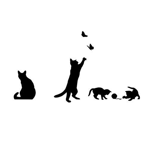 Jspoir Melodiz Liebliche Katze Wandtattoo Home Dekoration Abnehmbare Wandaufkleber Wandsticker Fensterbilder