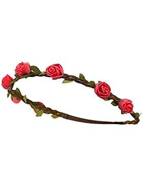 Trachten - Rosen Haarband geflochten braun / rot