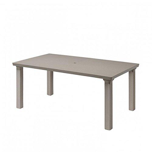 Ideapiu Table rectangulaire d'extérieur Finition Bronze, Table 170 x 100 avec Plan en polypropylène, Table