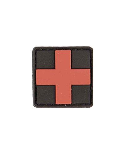 BKL1® 3D Patch First Aid erste Hilfe Klett BW Rot Schwarz 3x3 cm Ärmelabzeichen 1289