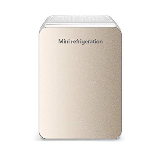 HHCC Kühlschrank Mini-Kühlschrank und thermoelektrischer Lebensmittel- und Getränkekühler, tragbare elektrische Box/Auto-Gefriertruhe für Mini-AC + DC-Kühlschrank mit doppeltem Verwendungszweck,Beige -
