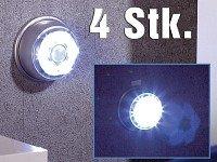 Lunartec LED-Nachtlicht mit Bewegungsmelder & Magnethalterung 4er-Set von Lunartec auf Lampenhans.de