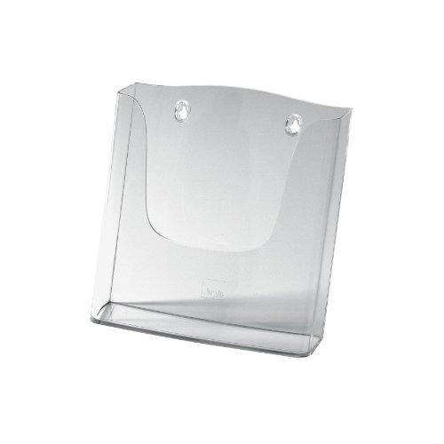 Sigel LH115 Wand-Prospekthalter für DIN A4, aus Acryl, transparent - weitere Größen
