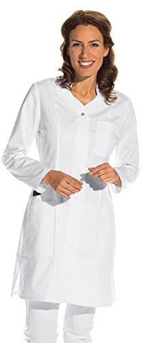clinicfashion 10312012 clincifashion Damen Mantel weiß, V-Ausschnitt, Mischgewebe, Größe 36